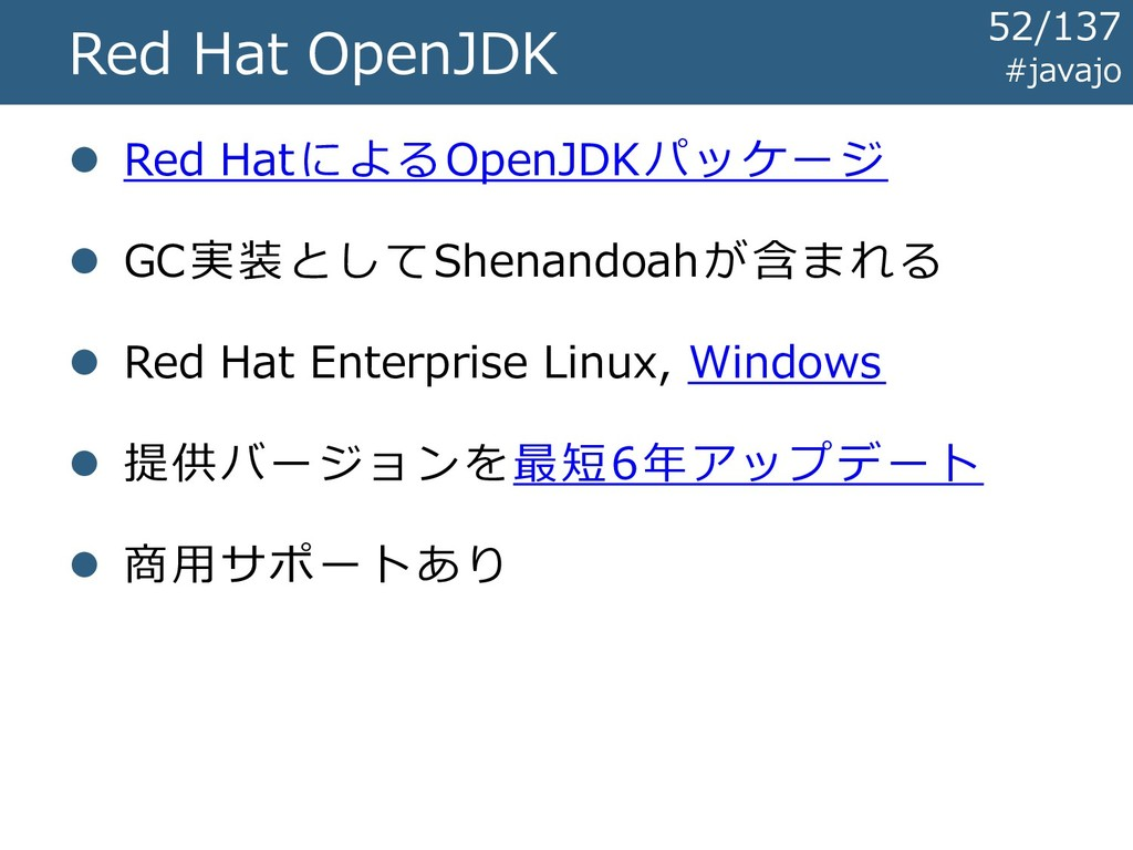 #javajo Red Hat OpenJDK ⚫ Red HatによるOpenJDKパッケー...