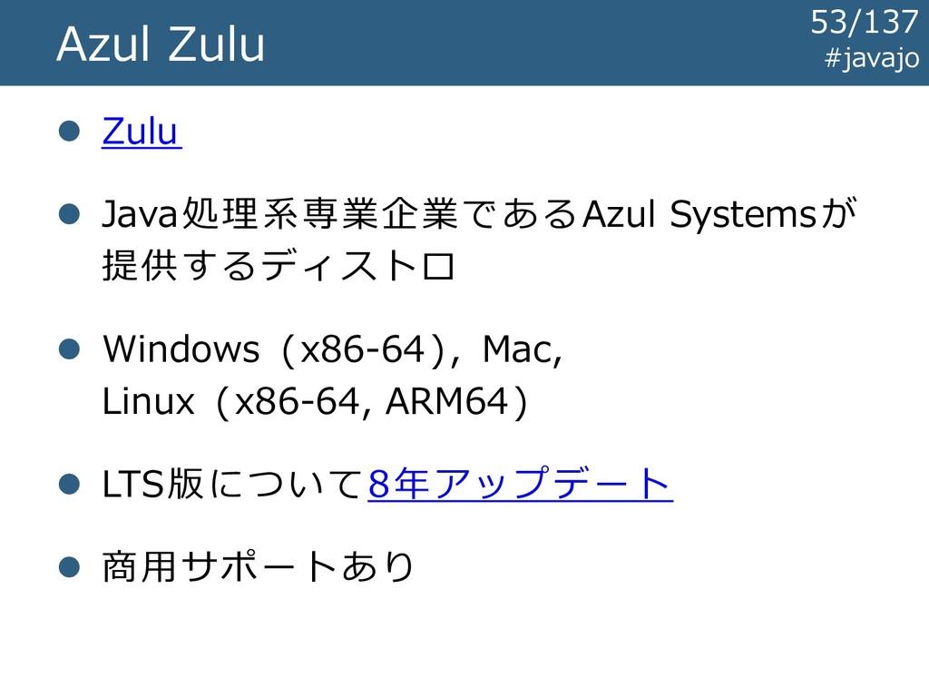 #javajo Azul Zulu ⚫ Zulu ⚫ Java処理系専業企業であるAzul S...