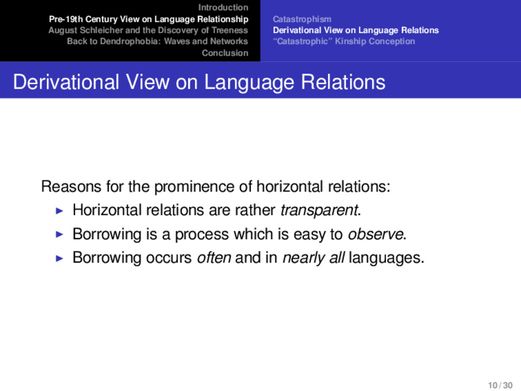 Introduction Pre-19th Century View on Language ...