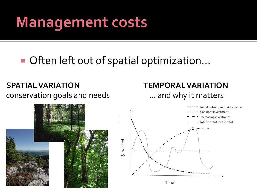 SPATIAL VARIATION conservation goals and needs ...