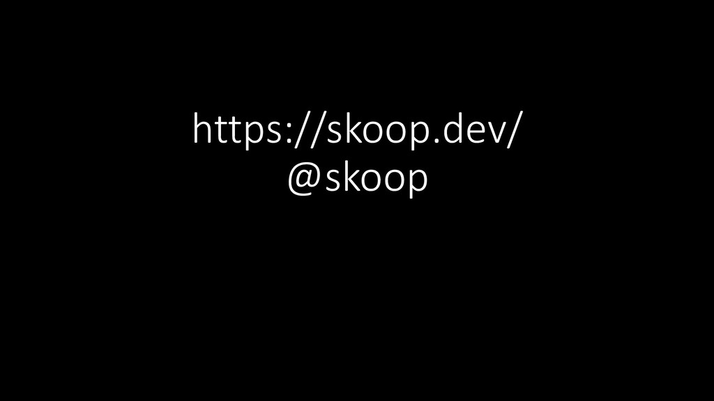 https://skoop.dev/ @skoop
