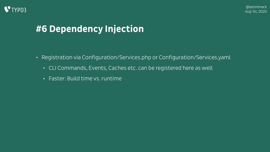 @bennimack Aug 1st, 2020 #6 Dependency Injectio...