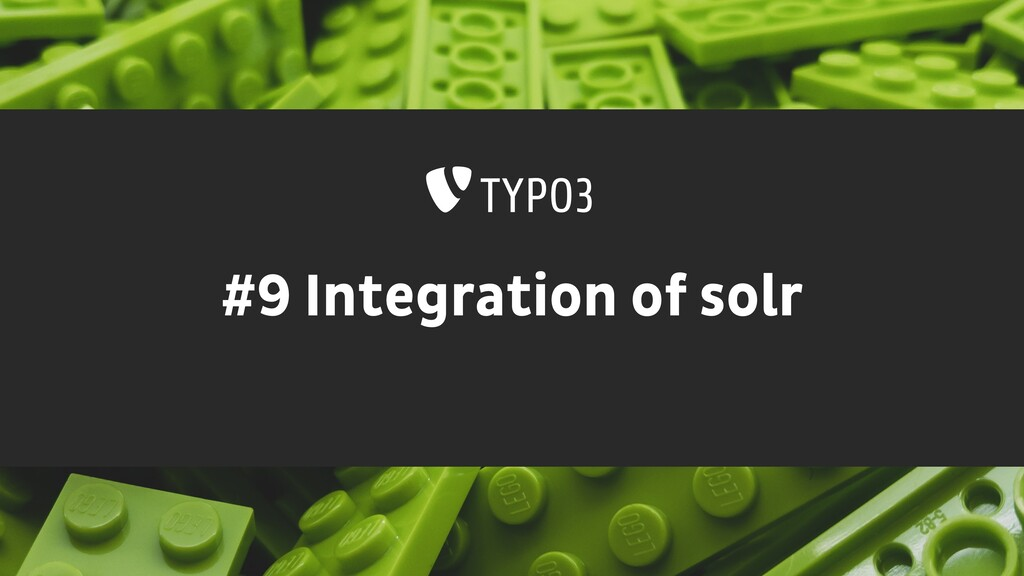 #9 Integration of solr