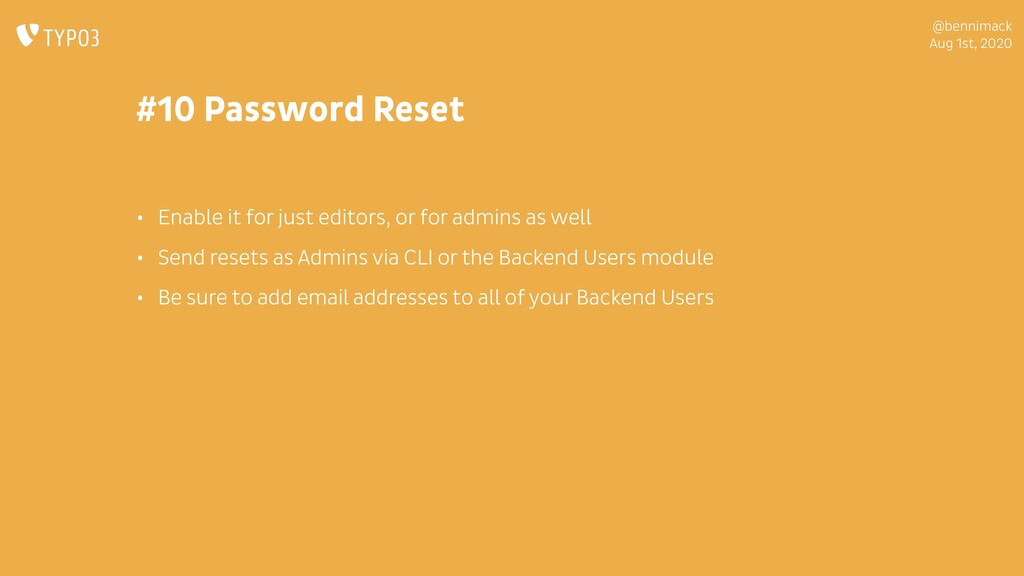 @bennimack Aug 1st, 2020 #10 Password Reset • E...