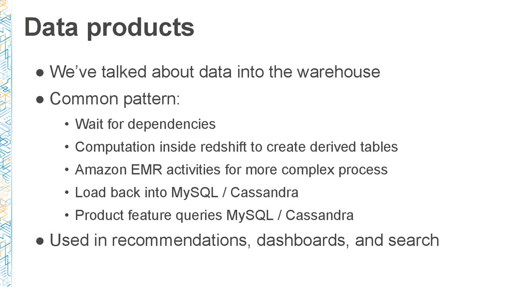 Data products ● We've talked about data into th...