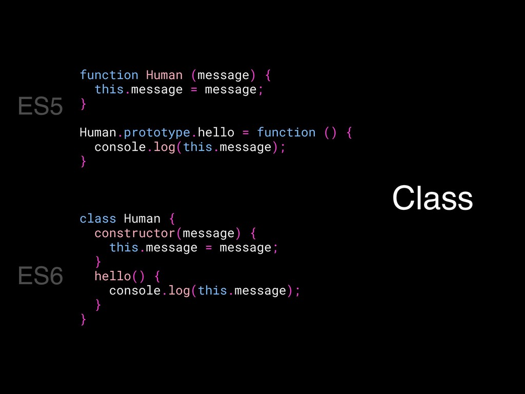 function Human (message) { this.message = messa...