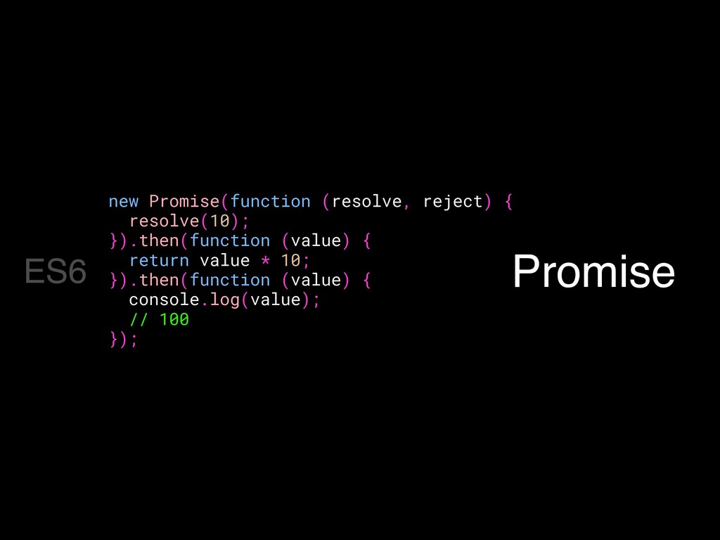 Promise new Promise(function (resolve, reject) ...
