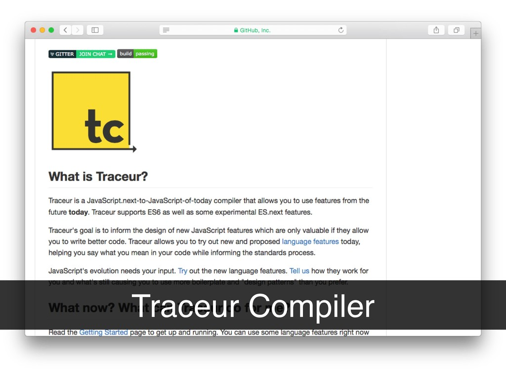 Traceur Compiler