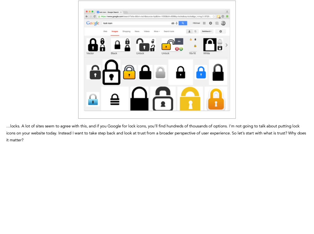 …locks. A lot of sites seem to agree with this,...