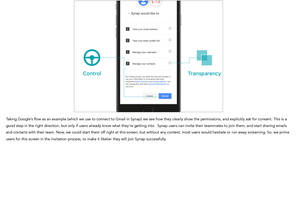 Control Transparency Taking Google's flow as an...