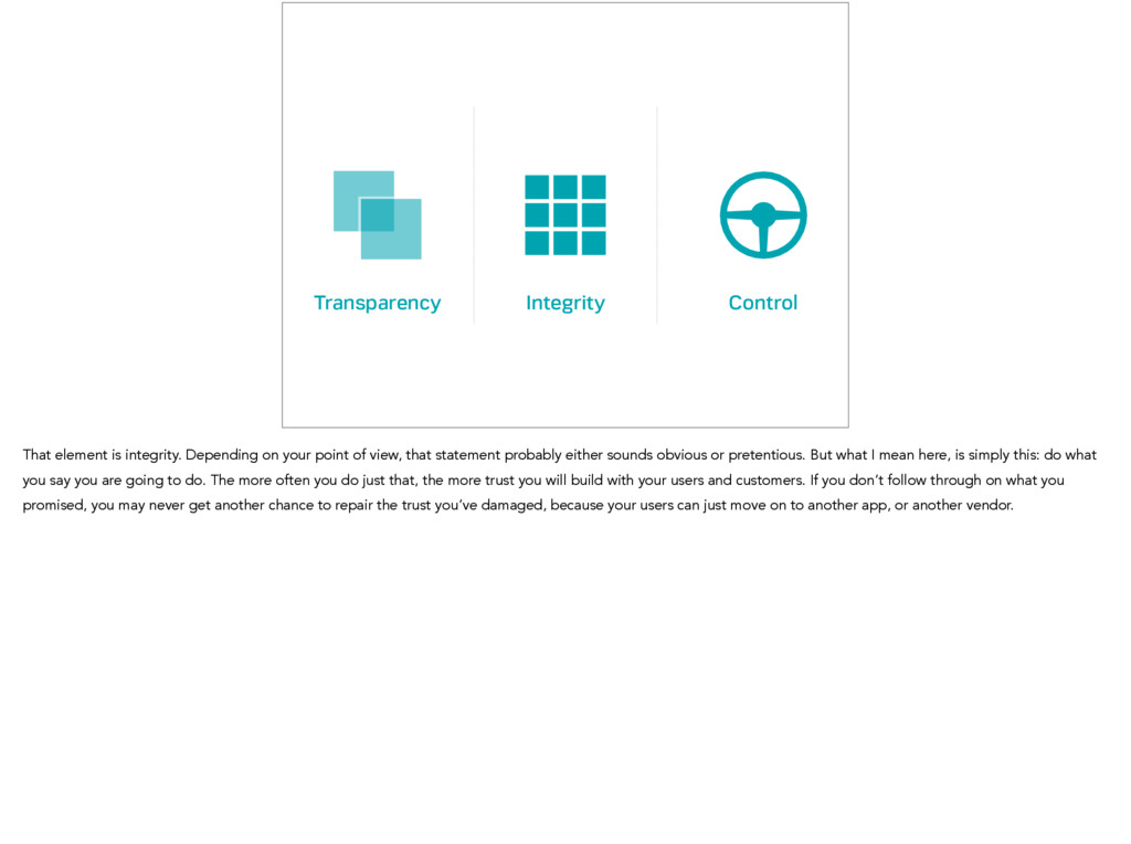 Transparency Control Integrity That element is ...