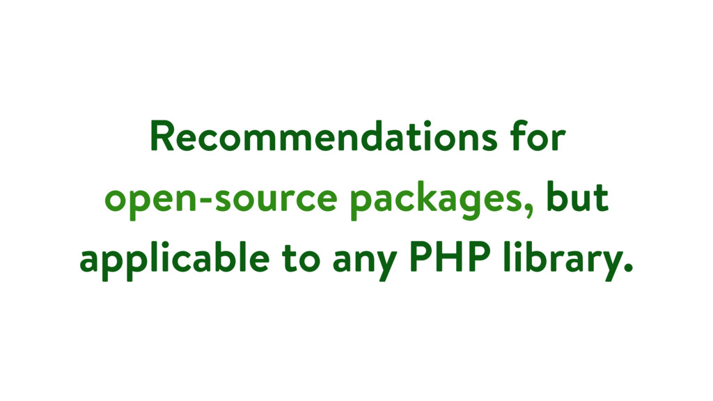 Recommendations for open-source packages, but a...