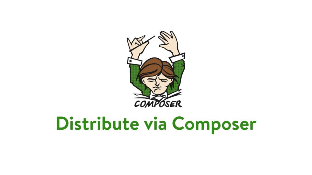 Distribute via Composer