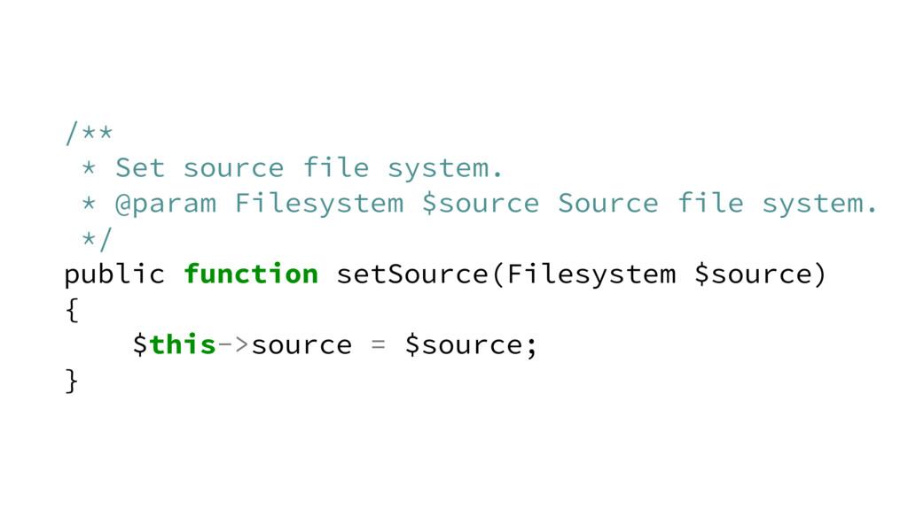 /** * Set source file system. * @param Filesyst...