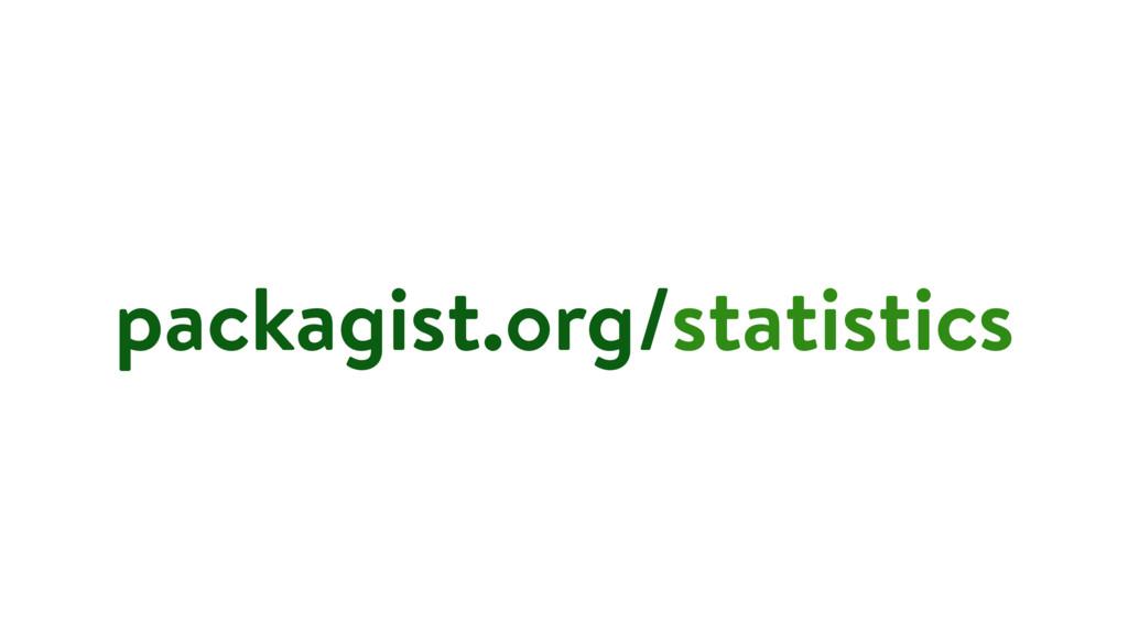 packagist.org/statistics