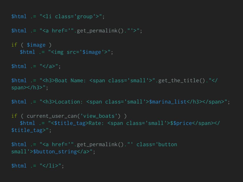 """$html .= """"<li class='group'>""""; $html .= """"<a hre..."""