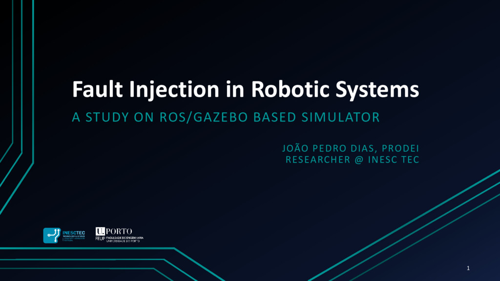 Fault Injection in Robotic Systems A STUDY ON R...