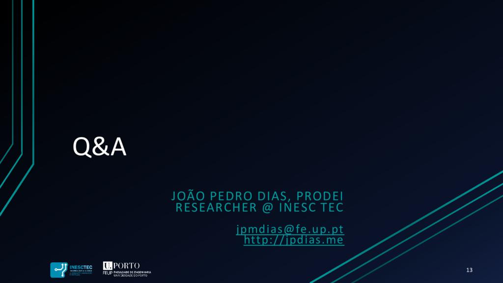 Q&A JOÃO PEDRO DIAS, PRODEI RESEARCHER @ INESC ...
