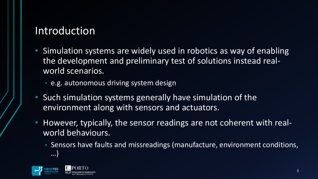 Introduction • Simulation systems are widely us...
