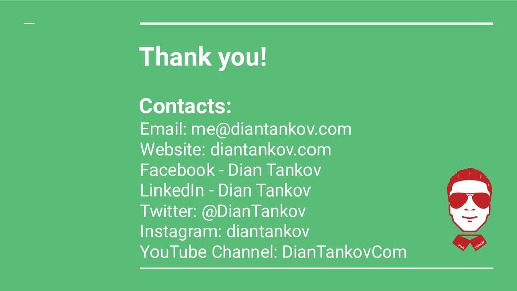 Email: me@diantankov.com Website: diantankov.co...