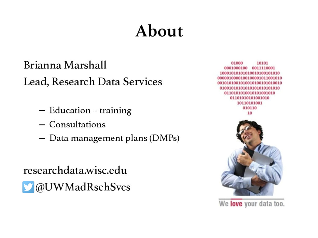 About Brianna Marshall! Lead, Research Data Se...