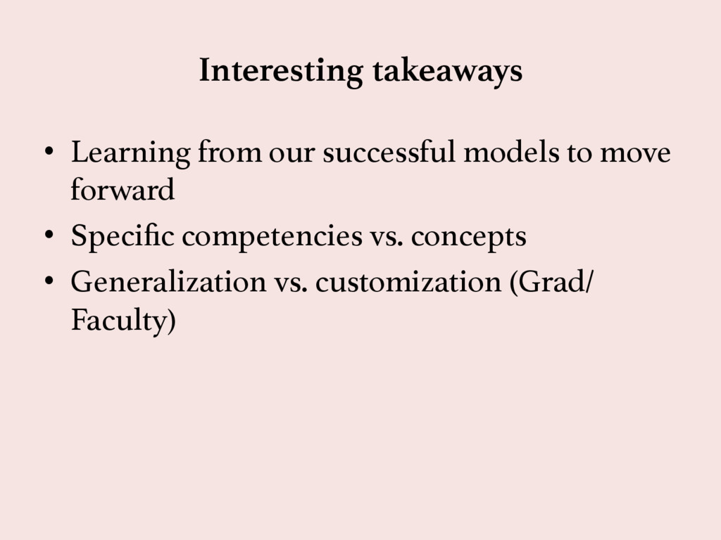 Interesting takeaways  • Learning from our su...