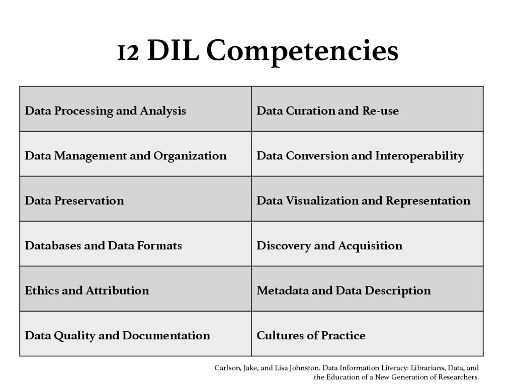 12 DIL Competencies Data Processing and Analys...