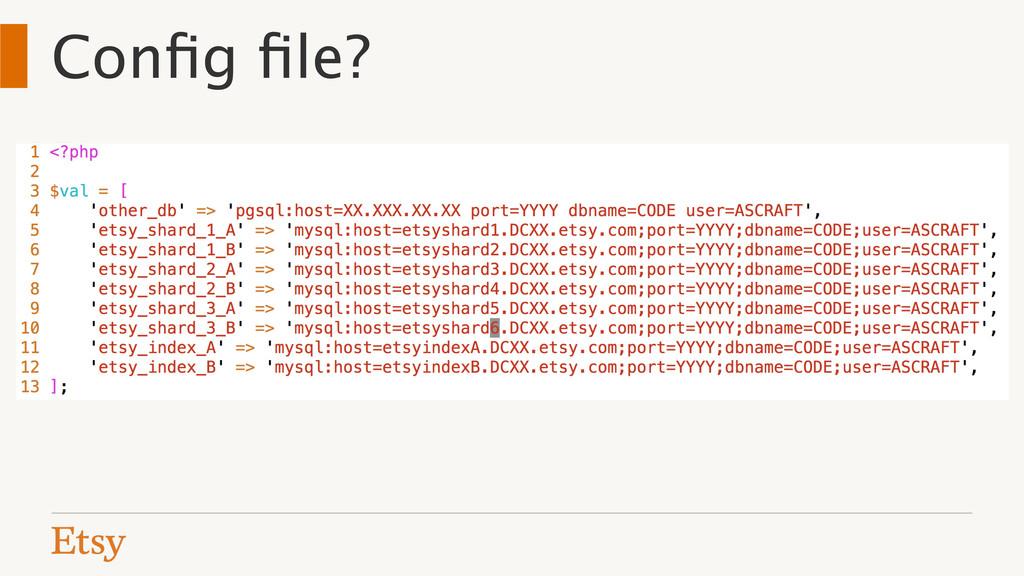 Config file?