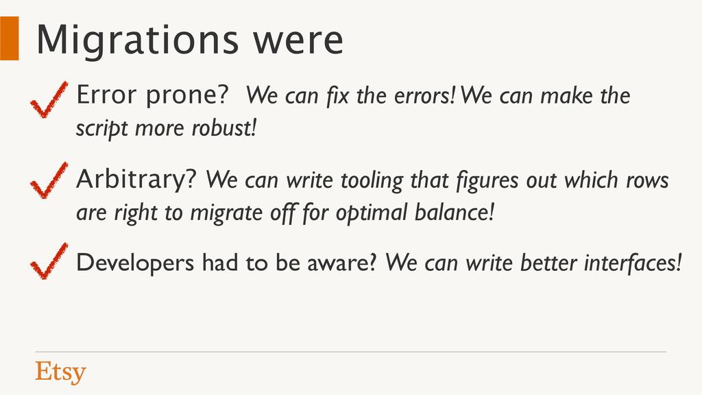 Migrations were Error prone? We can fix the erro...