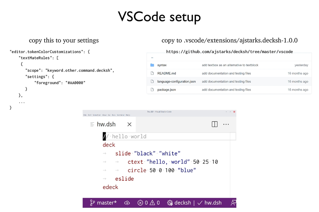 """VSCode setup copy this to your settings """"editor..."""