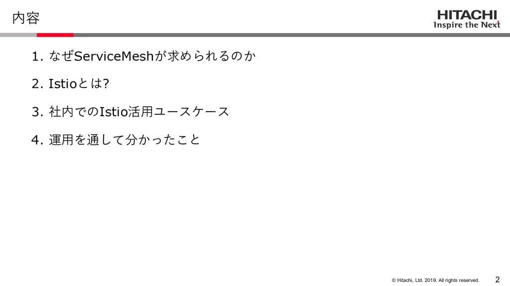 © Hitachi, Ltd. 2019. All rights reserved. 内容 1...