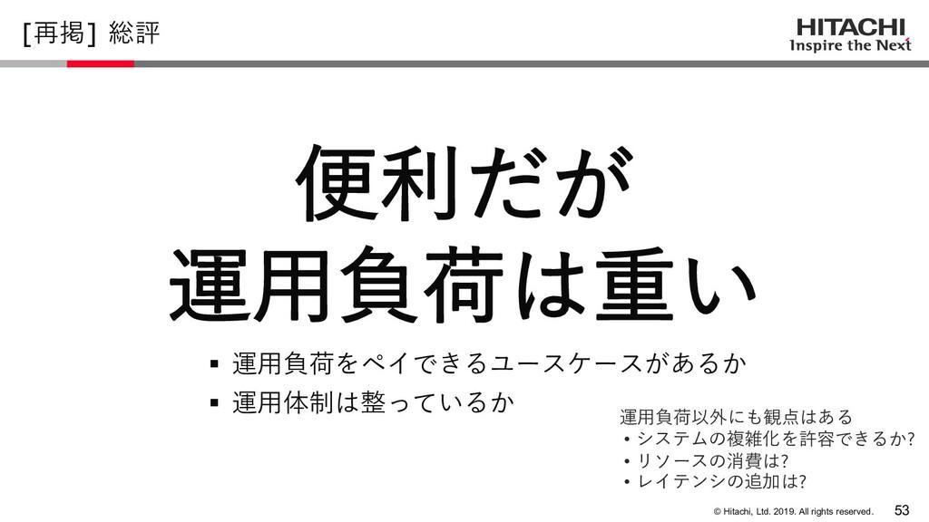© Hitachi, Ltd. 2019. All rights reserved. [再掲]...