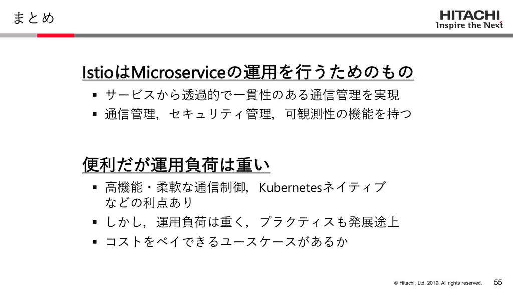 © Hitachi, Ltd. 2019. All rights reserved. まとめ ...