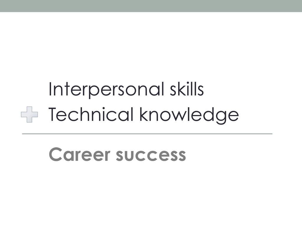 Interpersonal skills Technical knowledge Career...