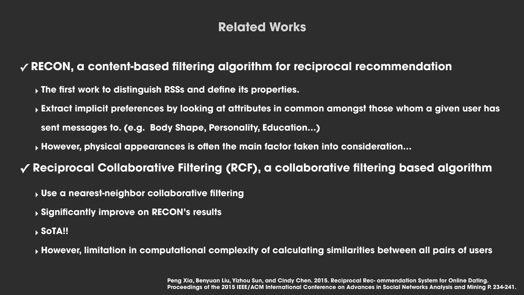 ✓ RECON, a content-based filtering algorithm for...