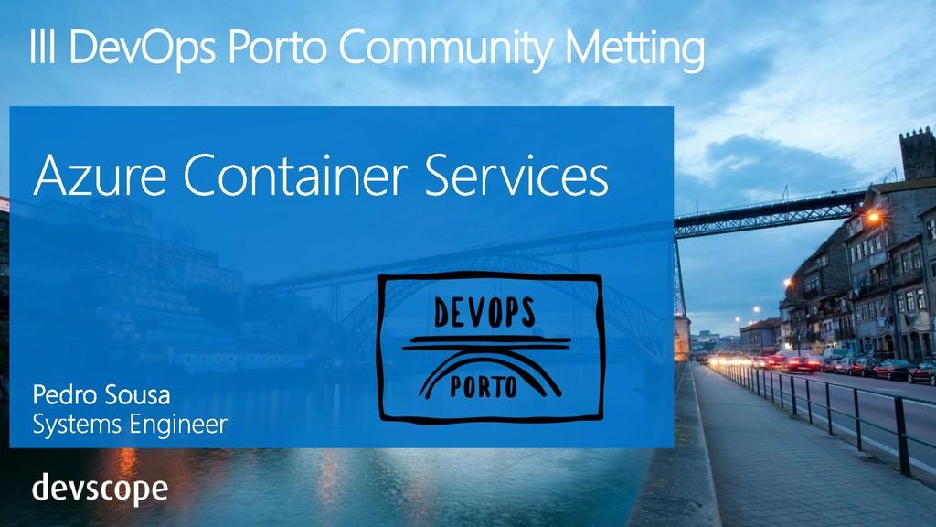 III DevOps Porto Community Metting