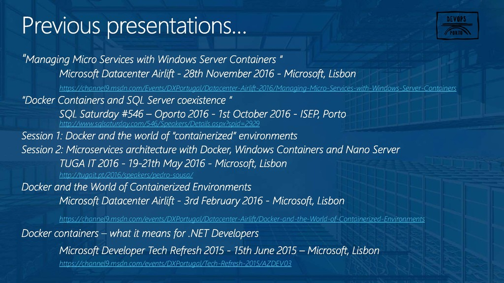 https://channel9.msdn.com/Events/DXPortugal/Dat...
