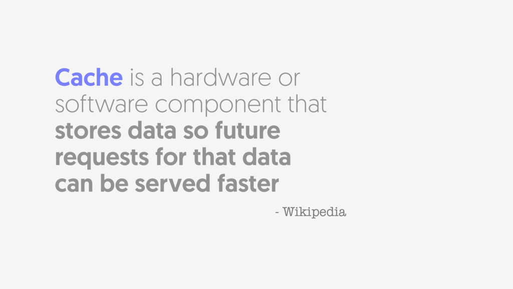 Cache is a hardware or software component that ...