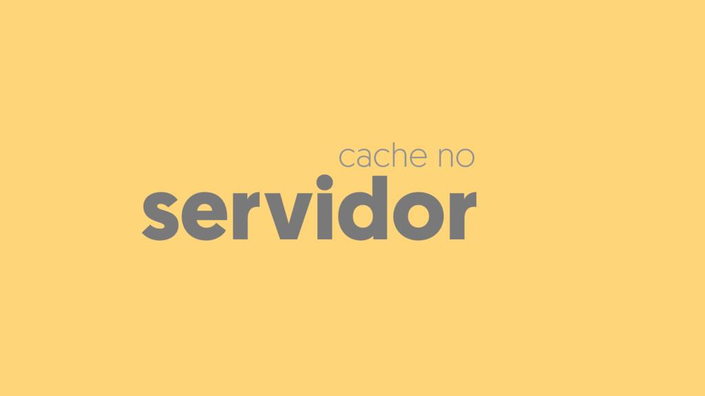 servidor cache no