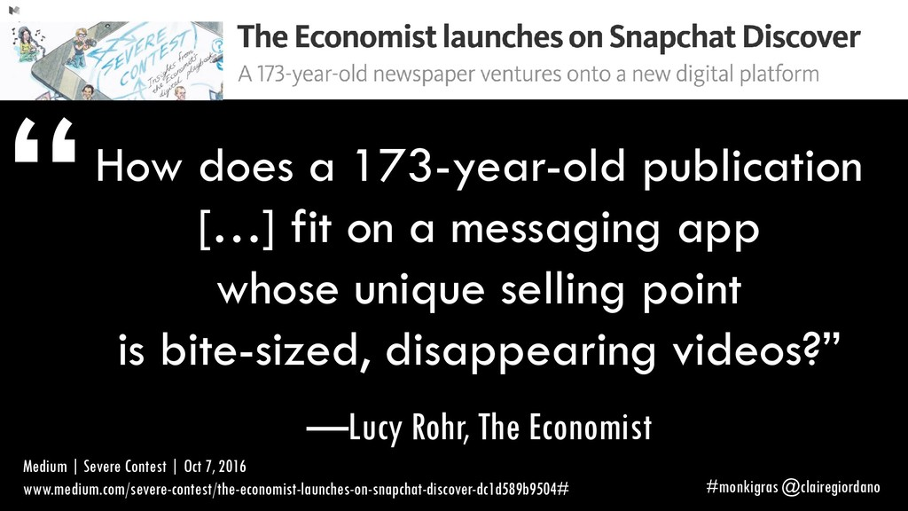 How does a 173-year-old publication […] fit on ...