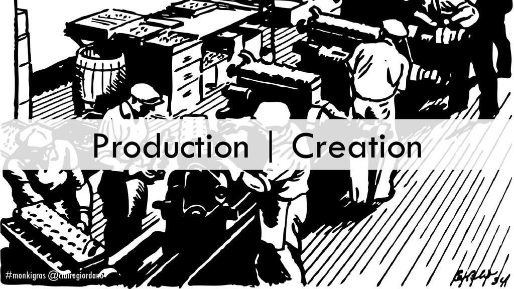 Production | Creation #monkigras @clairegiordano