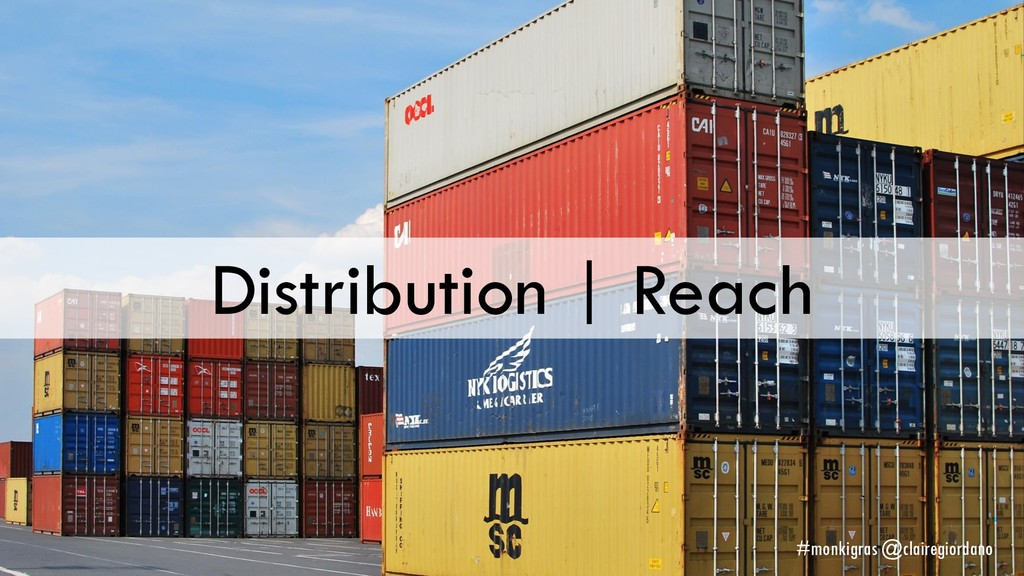 Distribution | Reach #monkigras @clairegiordano