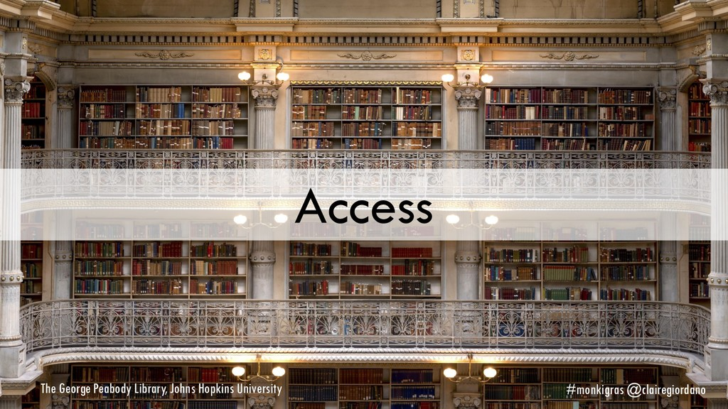 Access The George Peabody Library, Johns Hopkin...