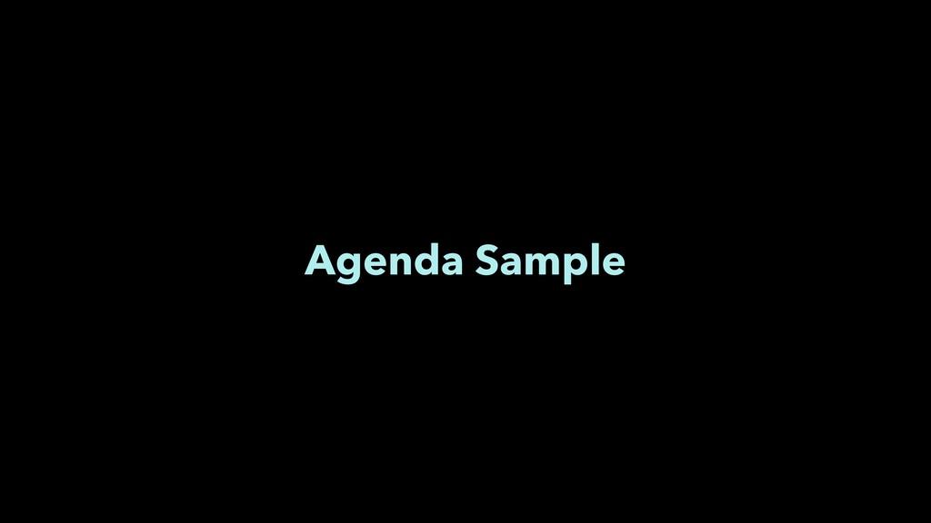 Agenda Sample
