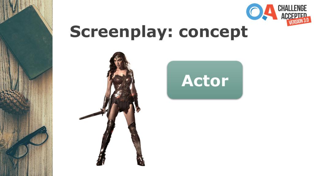 Screenplay: concept Actor