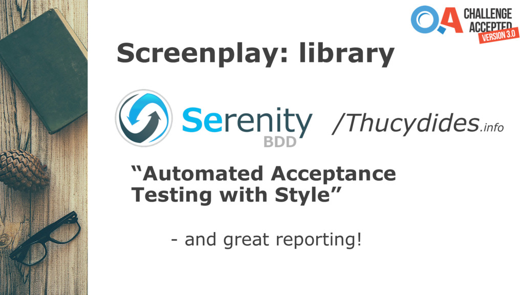 """Screenplay: library """"Automated Acceptance Testi..."""