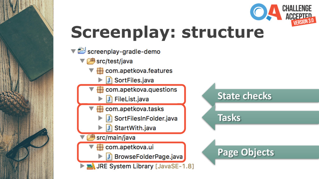 Screenplay: structure State checks Tasks Page O...
