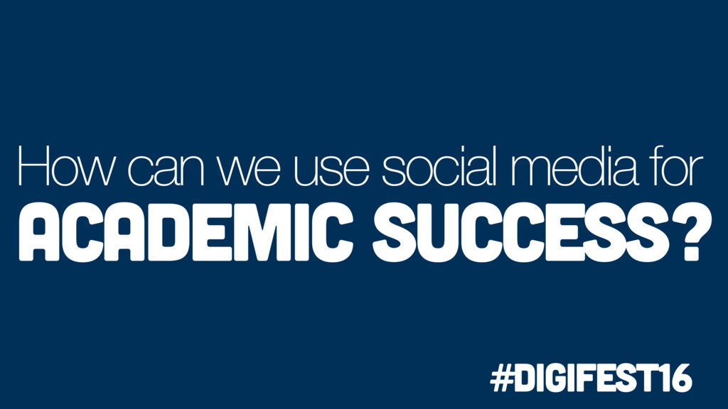 How can we use social media for Academic succes...