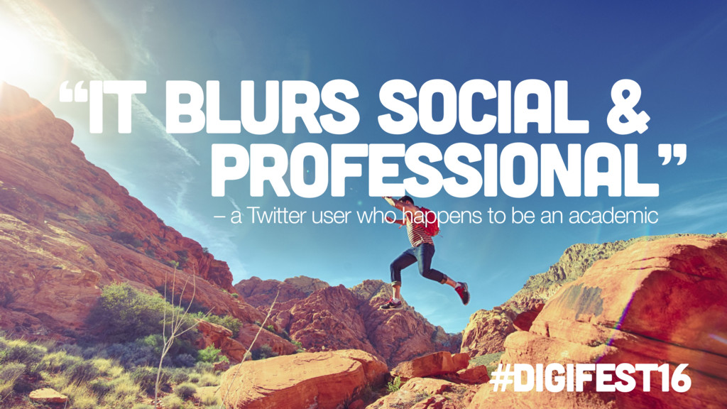 """it blurs social & professional"" – a Twitter us..."