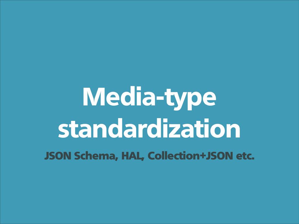 Media-type standardization JSON Schema, HAL, Co...